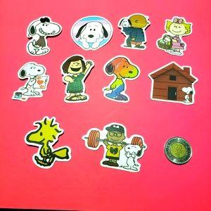 3/$20 10x brand new Snoopy waterproof stickers #3